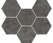 Керамогранит Italon Charme Evo Antracite mosaico hexagon 25x29